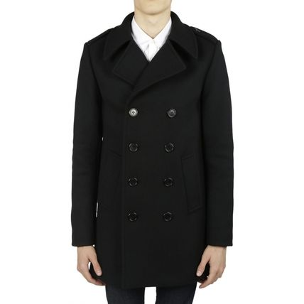【関税負担】 ★Saint Laurent ★ Black Classic coat