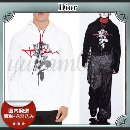 16-17AW/送関込≪Dior≫ バラプリント フード付きパーカー