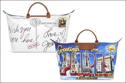 Longchamp × Jeremy Scott☆限定バッグ Greetings from Paris