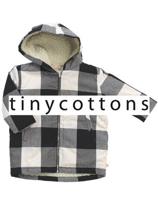 2016AW【tiny cottons】huge check parka*裏ボアパーカー