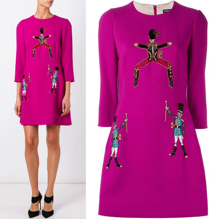 16-17AW DG722 TOY SOLDIER EMBELLISHED A-LINE DRESS