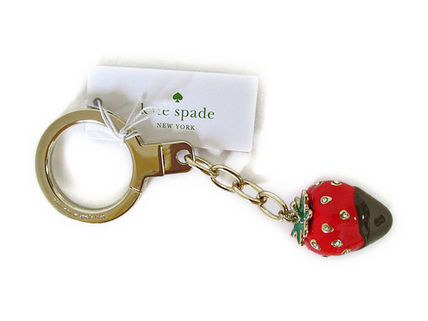 kate spade Chocolate Dipped Strawberry Key Fob