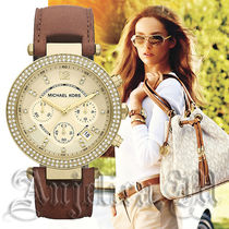 ★大人気★Michael Kors Parker Chocolate Leather Strap MK2249