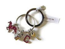 COACH Horse Lock Key Multi Mix Key Ring F65167