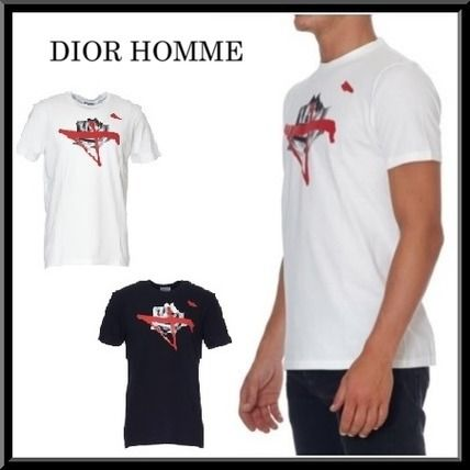 2016-17AW新作★Dior Homme【海外限定】半袖 プリント Tシャツ