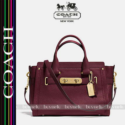COACH★SWAGGER CARRYALL IN NUBUCK PEBBLE LEATHER 34408