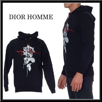 2016-17AW新作★Dior Homme【海外限定】長袖 プリント パーカー