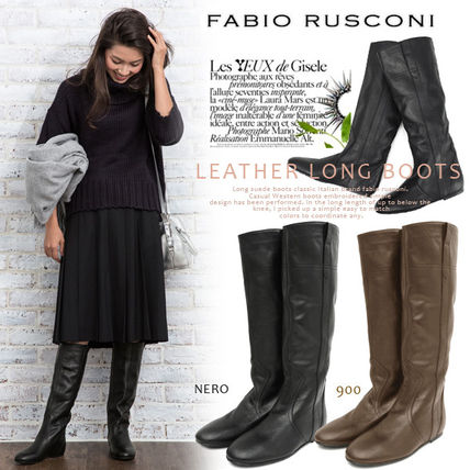 Fabiolusconiboot Fabio Rusconi in upholstered leather long