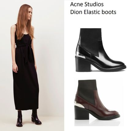Acne Dion Elastic boots leather ankle elastic short boots