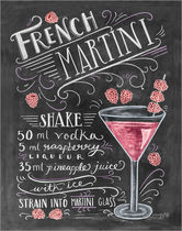 Lily and Val☆お洒落なアートポスターFrenchMartini Raspberry