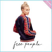 【Free People】New Romantics Embellished Baseball Jacket