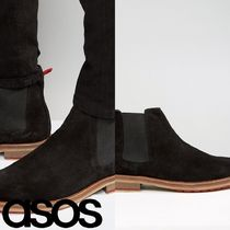 ASOS(エイソス) ブーツ 売切確実ASOS Chelsea Boot With Coloured Back Pull And Sole
