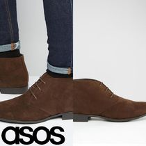 ASOS(エイソス) ブーツ 売切確実ASOS Chukka Boots in Brown Faux Suede