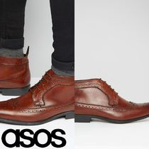 ASOS(エイソス) ブーツ 売切確実ASOS Brogue Chukka Boots in Brown Leather