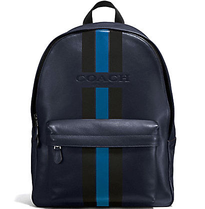 popular midnight COACH VARSITY LEATHER backpack