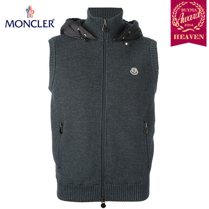 TOPセラー賞受賞!16/17秋冬┃MONCLER★KNITTED GILET┃グレー