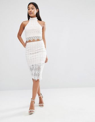 Love Triangle Lace Bodycon Skirt