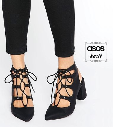 * London Rebel * lace up leather chunky her