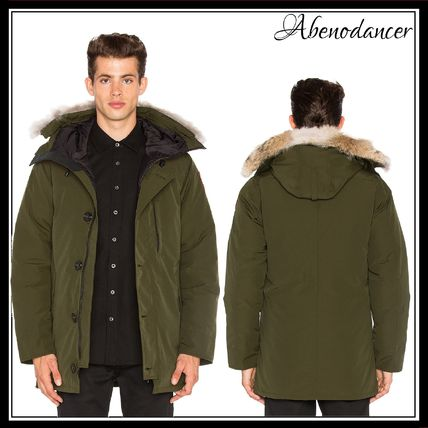 CANADA GOOSE★Chateau Furトリムダウンパーカー*MILITARY GREEN