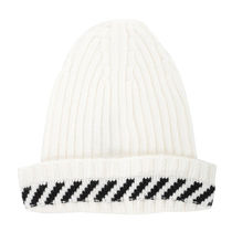 Off-White(オフホワイト) 帽子 ★OFF WHITE STRIPE DETAIL BEANIE