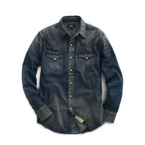 RRL&Co ダブルアールエル☆SLIM DARK DENIM WESTERN SHIRT