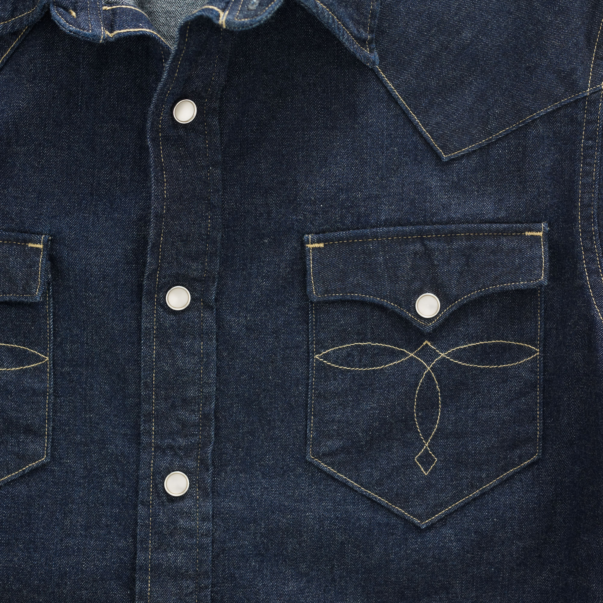 RRL&Co ダブルアールエル☆SLIM-FIT DENIM WESTERN SHIRT