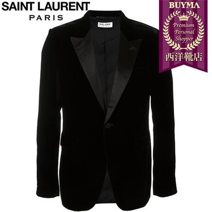 16/17秋冬入荷!┃SAINT LAURENT┃VELVET SINGLE BREASTED BLAZE