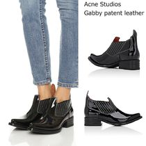 Acne Gabby patent leather ankle bootsパテントレザーブーツ