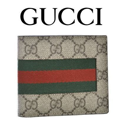 16AW新作 ☆Gucci☆ WEB GG Supreme Coin Wallet 折り財布♪