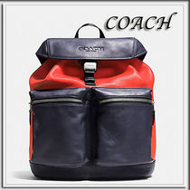 Coach(コーチ) バックパック・リュック Coach★SMOOTH LEATHER リュックサック MIDNIGHT/ORANGE F71728