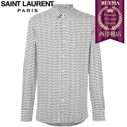 16/17秋冬入荷!┃SAINT LAURENT┃CARDS SUIT PRINT SHIRT ┃116