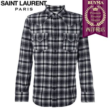 16/17秋冬入荷!┃SAINT LAURENT┃CHECKED CLASSIC WESTERN SHIR