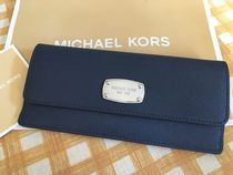 MICHAEL KORS★Jet Set Travel★Flat Wallet 薄型長財布★Navy