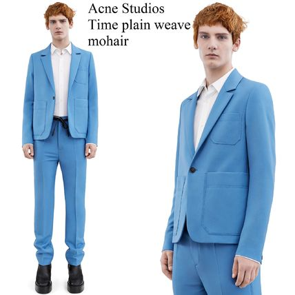 ACNE Time plain weave mohair blue モヘア混スーツジャケット