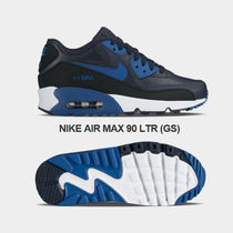 NIKE★AIR MAX 90 LTR GS★レザー★22.5~25cm★DARK OBSIDIAN