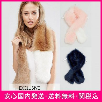 My Accessories soft faux leather scarf *