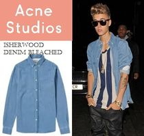ACNE Isherwood Denim washed /bleached ブルー デニムシャツ2色