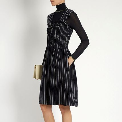 新作♡関税込【TRADEMARK】Dylan Striped Wool-Blend Dress