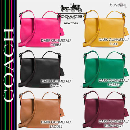 COACH★大人気レア☆SADDLE BAG IN GLOVETANNED LEATHER 55298