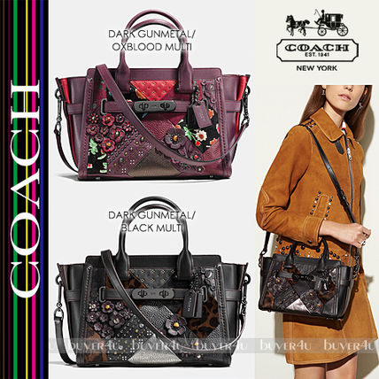 COACH★SWAGGER 27 IN EMBELISSHED CANYON QUILT LEATHER 55503