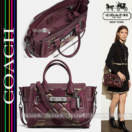COACH★SWAGGER 27 IN MIXED MATERIALS CANYON QUILT 55512