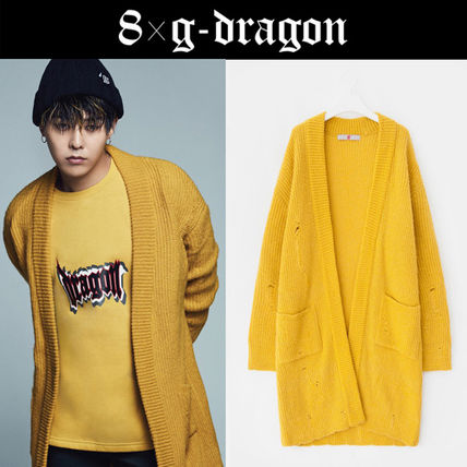 "[8"" X G-Dragon]◆GD Destroyed Long Cardigan◆Unisex◆送料込"
