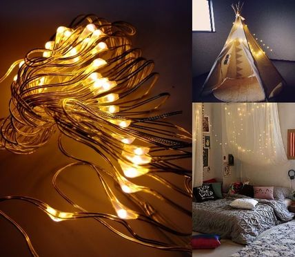 LED twinkle 5 m wire lights battery operated party decor