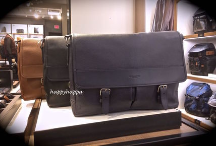 Coach HENRY MESSENGER F54149 soft Pebble leather