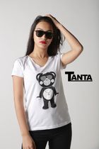 [新作] TANTA GIRLS ★NEW★ DAIMOND SWAROVSKI Tシャツ 即発