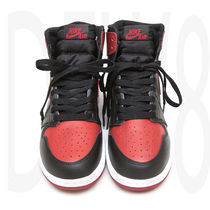 送料込 NIKE AIR JORDAN 1 RETRO HIGH OG GS BRED BANNED