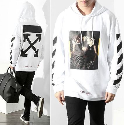 Off-White 16FW NARCISO print parka WHITE