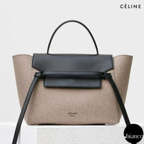関税送料込CELINE MINI BELT HANDBAG IN BEIGE FELT 日本未展開