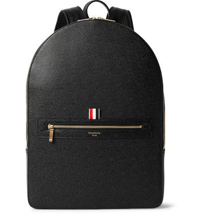 Pebble-Grain Leather Backpack レザーバックパック