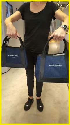 17 aw popular BALENCIAGA tote back denim